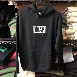 Trap Hoodie - Black w/ White